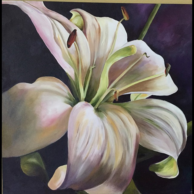 'Lily' by Linda Ziglar - Oil 24x24
