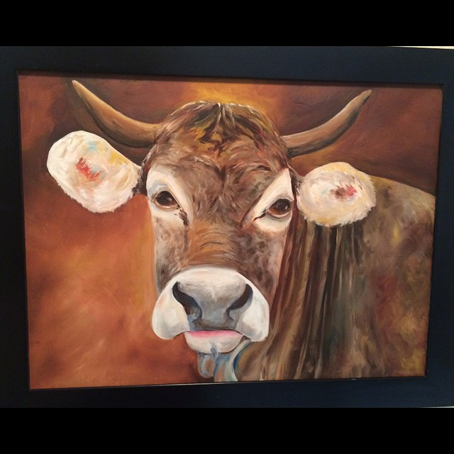 'Moo!'by  Linda Ziglar - Oil 16x20