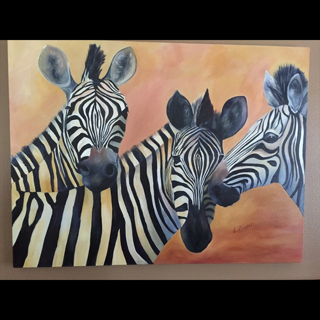 'Zebras' by Linda Ziglar - Oil 36x48